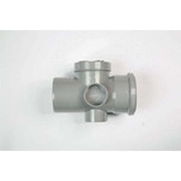 Polysoil 3s60 82mm access pipe grey 82mm grey soil for 82mm soil pipe