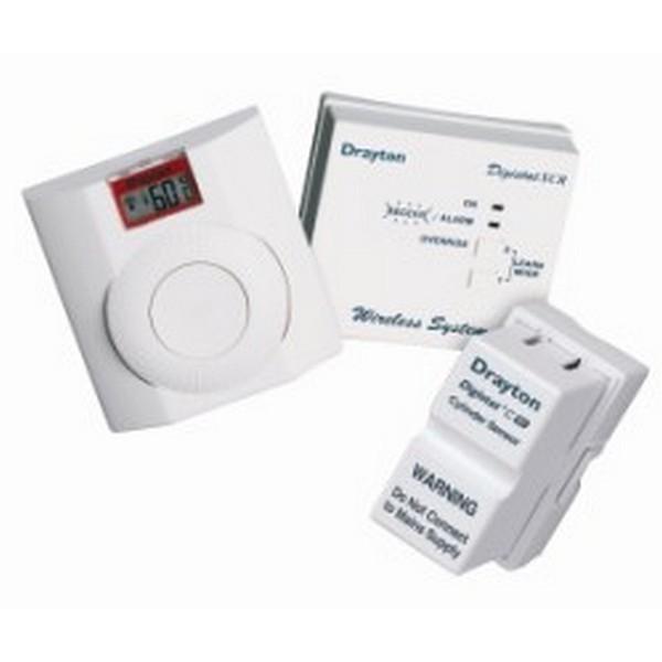 drayton digistat c rf wireless cylinder thermostat. Black Bedroom Furniture Sets. Home Design Ideas