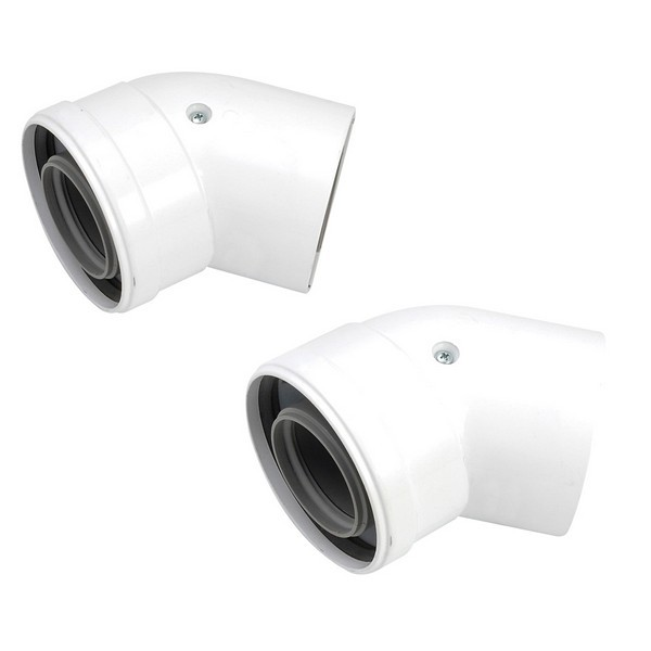 Glow worm 460485 45° Flue Bends (2)