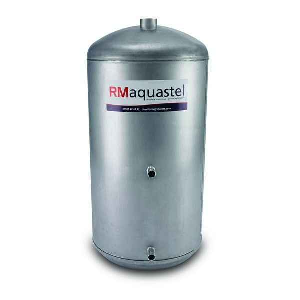 "1200mm x 450mm (48"" x 18"") Aquastel INDIRECT Steel Cylinder - Capacity - 166 Litres"
